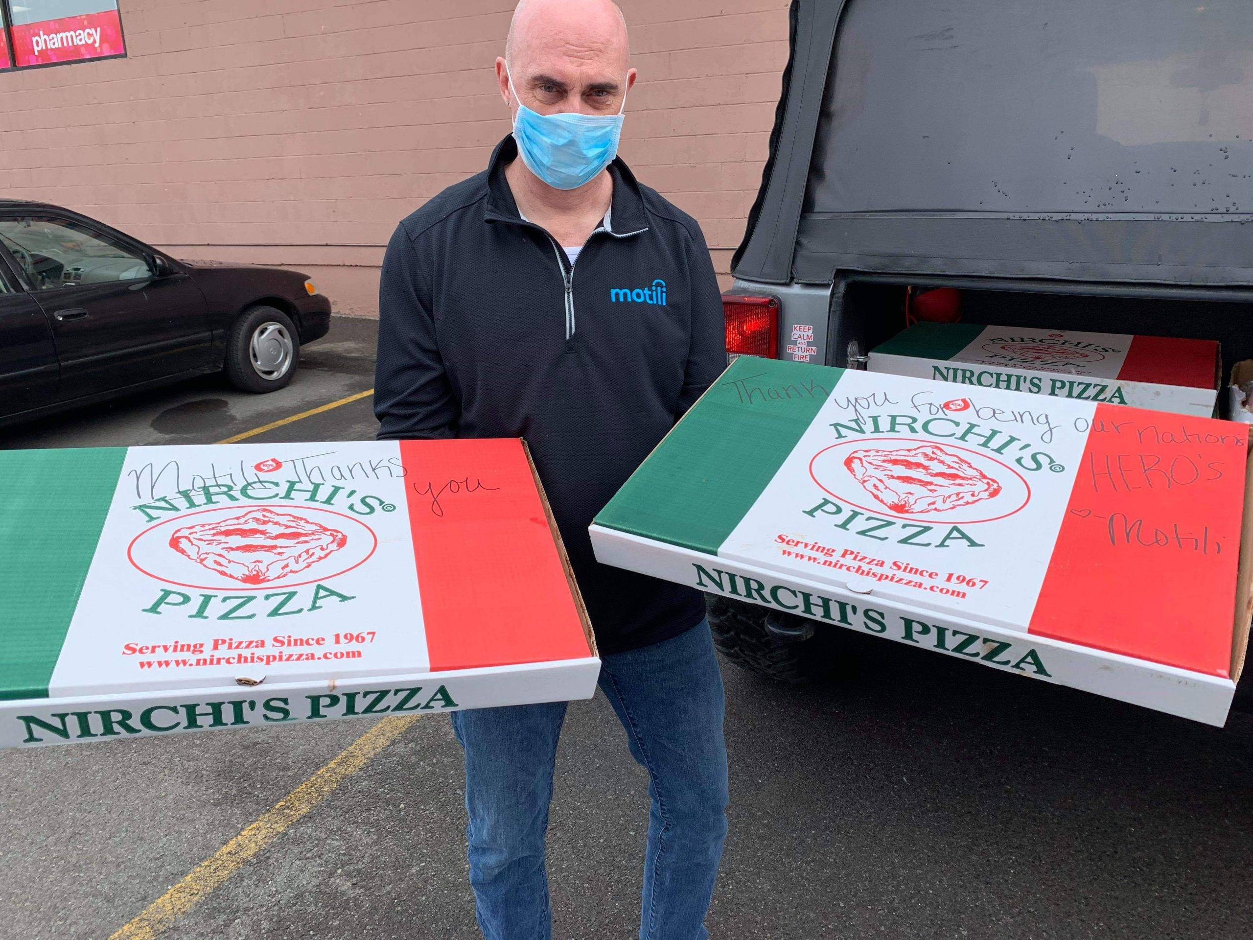 Delivering Pizza to First Responders in Binghamton, NY